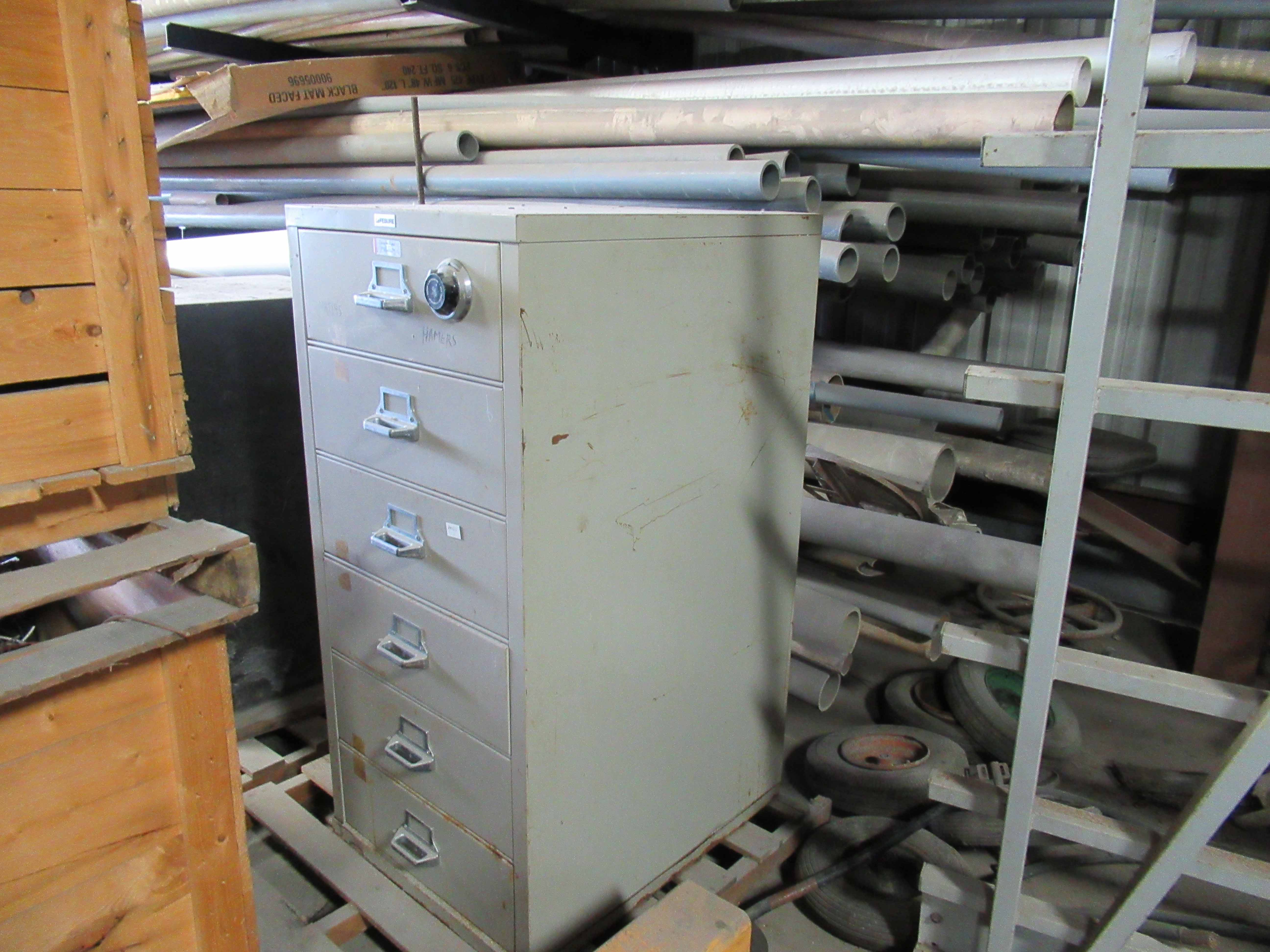 Lot 10 - LEFEBURE 6-DRAWER COMBINATION LOCK TOOL CABINET, heavy duty locking cabinet with Sargent & Greenleaf