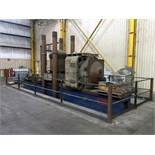 CUSTOM HYDRAULIC TRAVELING HEAD AND STRAIGHTENING PRESS, 1,500 T. CAP., approx. 3' x 28' bed, 48""