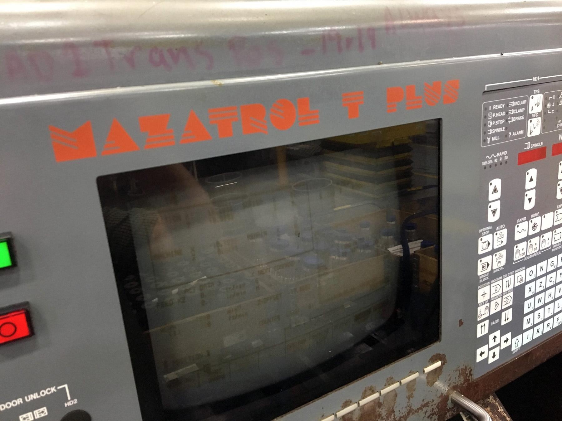 "Lot 28 - MAZAK MDL. DUAL TURN 20 CNC LATHE, new 1997, Mazatrol T Plus CNC control, 12.6"" sw. over bed, 10"""