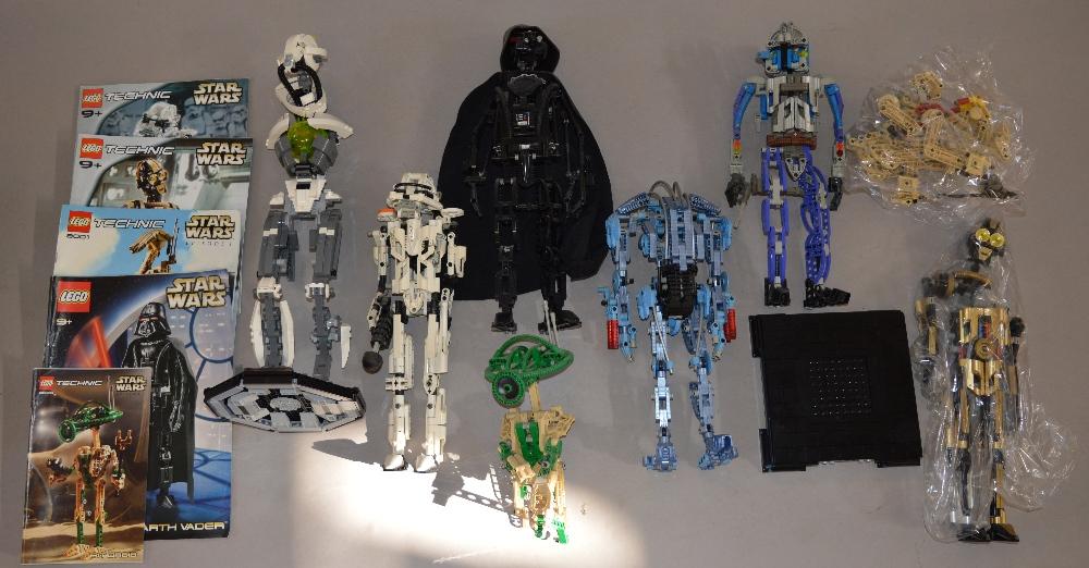 Lego Technic Star Wars Boba Fett 8007 C 3po With Instructions