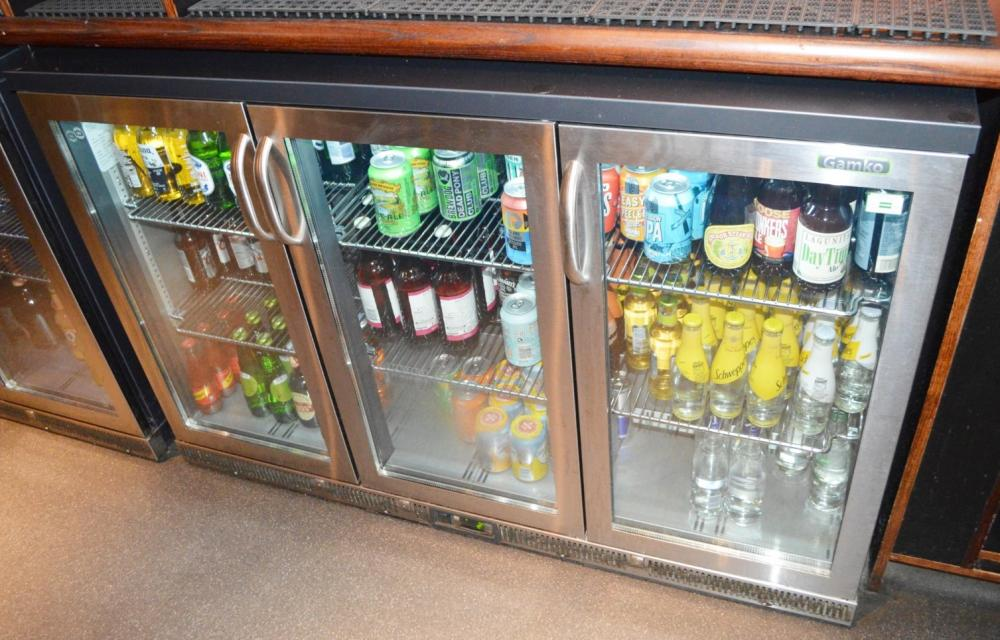 Lot 123 - 1 x Gamko High Capacity Triple Hinged Door Backbar Bottle Cooler - Stainless Steel Finish - Model