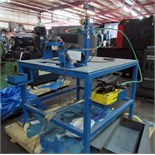 "SWEDGING MACHINE, CUSTOM , (2) stations: 1-1/2"" and 2"" cap., Enerpac pwr. Supply (Location C -"