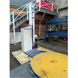 "WRAPPING MACHINE, HALMEC MDL. HP88. 60"" tbl. dia., 78"" vert. travel of film cartridge, 20"" film"
