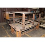 "LOT OF WELDING TABLES (4), (1) 1/2"" plate x 7' x 4' x 2' ht., (1) 3/4"" plate x 5' x 7' x 33"" ht., ("
