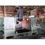 "CNC VERTICAL MACHINING CENTER, HAAS MDL. VF-1, new 1994, 26"" x 14"" tbl., CT-40 spndl. taper, 7,500"
