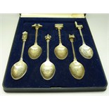 Lot 628 - A set of six plated London teaspoons,
