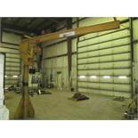 "1/2 Ton Floor Standing Jib Crane, 11' Boom, 9' 5"" Under Boom, Harrington Electric (Hoist Building C)"