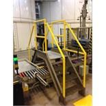 Mild steel 3 step cross over conveyor. Located in Marion, Ohio Rigging Fee: $200