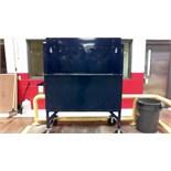 Blue film Ergo cart cart on wheels. Located in Marion, Ohio Rigging Fee: $50