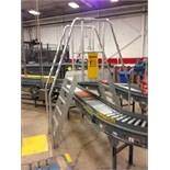 Aluminum conveyor crossover 6 step. Located in Marion, Ohio Rigging Fee: $100