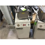 Markem smart laser 110 with Fumex fune cabinet and mounting pole. Located in Marion, Ohio Rigging