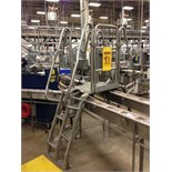 SS Lapeyre conveyor crossover, 3-way conveyor cross-over. Located in Marion, Ohio Rigging Fee: $100