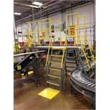Mild steel conveyor 5 steps-4 directions. Located in Marion, Ohio Rigging Fee: $300