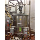 East Fill Kettle, Stainless Steel Kettle, 33 inch dia x 36 straight side, direct drive agitator,