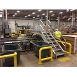 Aluminum conveyor crossover 6 step 8 feet wide. Located in Marion, Ohio Rigging Fee: $300