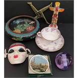 Vintage Assorted Ceramics Includes Wedgwood, Cloisonné & Thrifco