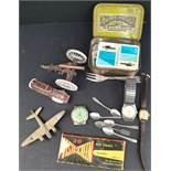 Parcel of Watches Flatware Britains toys etc