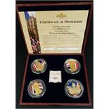 Collectable Coins Set 4 Year of The 3 Kings Commemorative Strike