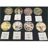 Collectable Coins 8 x Assorted Subjects Royalty Concord RAF etc.