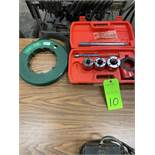 Pipe Threading kit with Greenlee fish tape