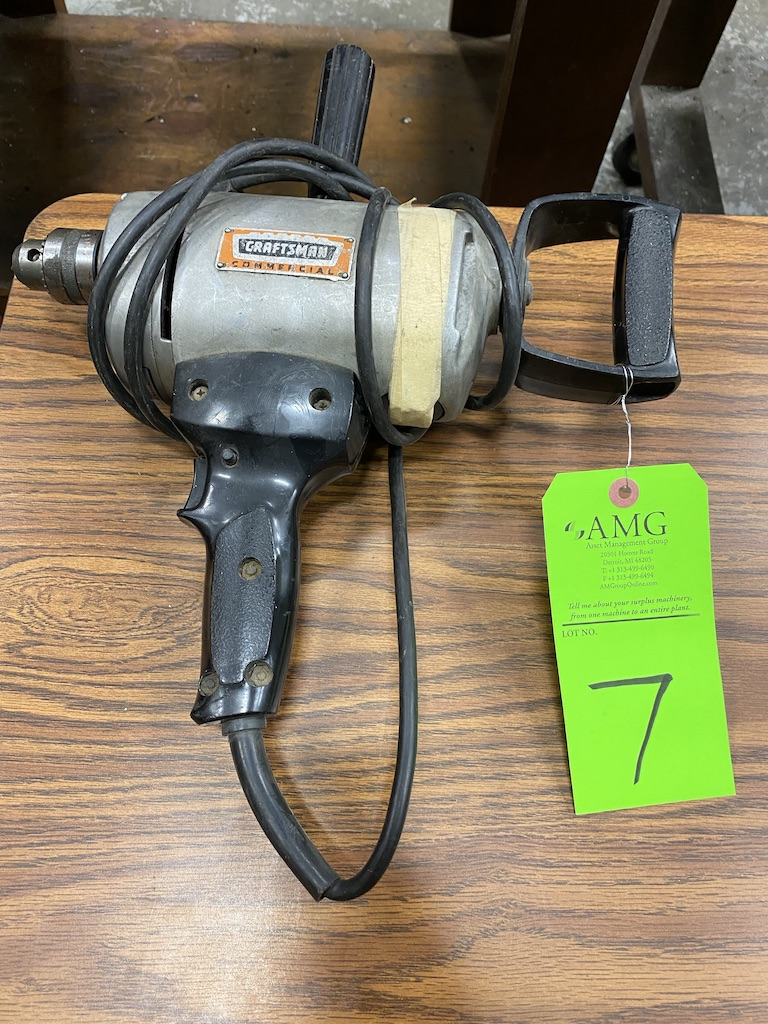 Lot 7 - Craftsman commercial hand drill