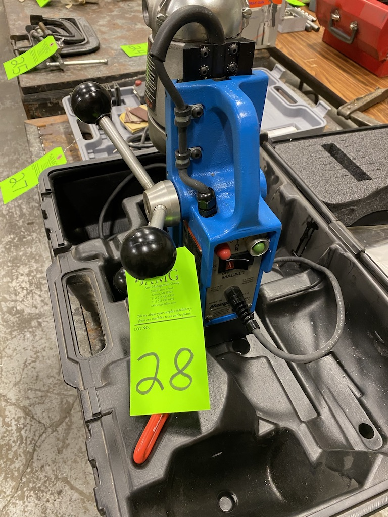 Lot 28 - Hougen magnetic base portable drill