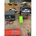 Battery chargers, power on board jump start system