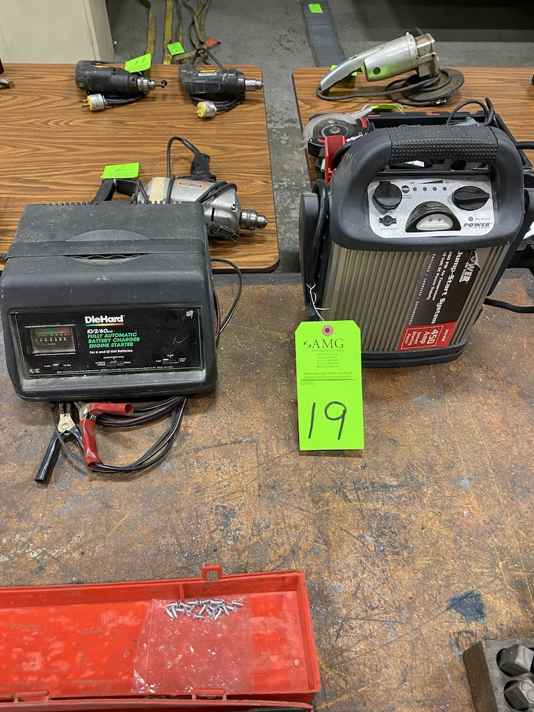Lot 19 - Battery chargers, power on board jump start system