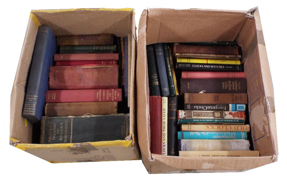 Lot 2208 - Large quantity of old standard horological reference books (over 40)