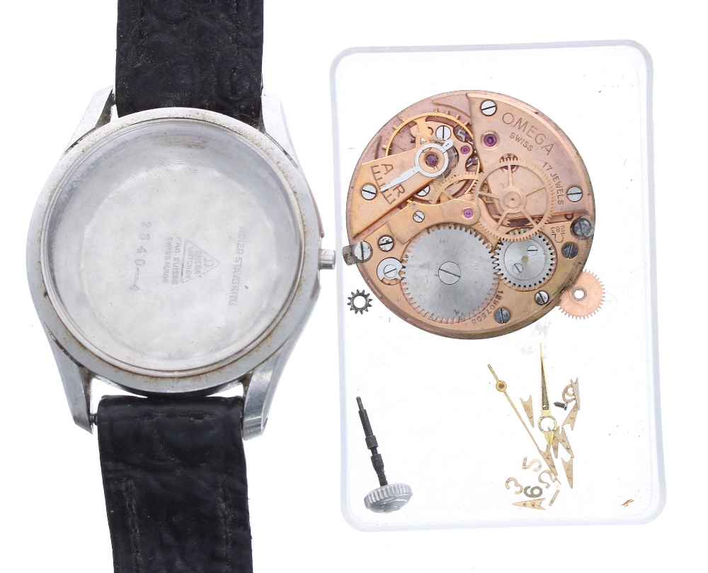 Lot 1922 - Omega gentleman's wristwatch for repair or spares, ref. 2640-4, cal. 283 17 jewel movement, modern