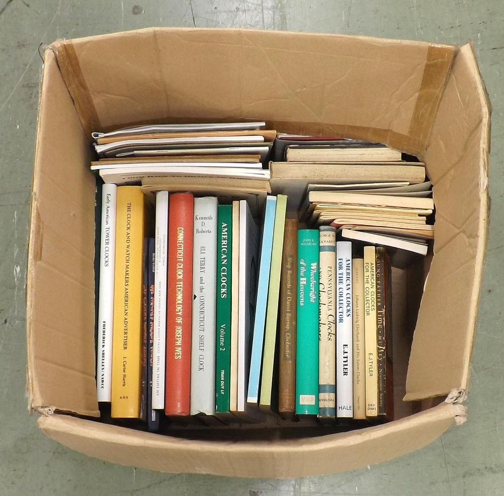 Lot 2202 - Large quantity of hardback and paperback books relating to American horology