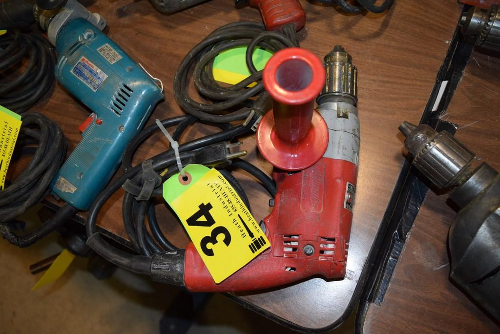Lot 34 - MILWAUKEE CAT. NO. 0234-1, 1/2'' ELECTRIC MAGNUM HOLESHOOTER