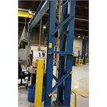 COMPLETE SELF SUPPORTING 5 TON BRIDGE CRANE SYSTEM , APPROX 25' X 35' X 14' TALL W/ WIRELESS REMOTE