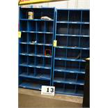 "(2) METAL SHELF UNITS, APPROX 18"" X 3' X 7' TALL"