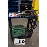 DOT WELDER W/ LEADS, ASSORT WELDING SUPPLIES