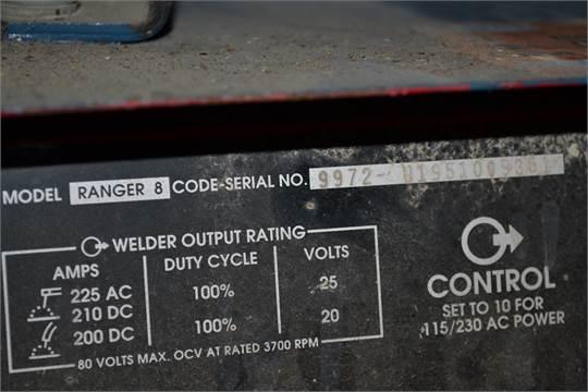 Lincoln Model Ranger 8 Welder S N 9972 U1951009351 Cart