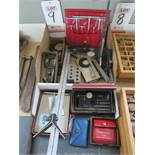"""LOT - INSPECTION RELATED ITEMS, TO INCLUDE: 20"""" HEIGHT GAGE, (3) MICROMETERS, BORE GAGES, ETC."""