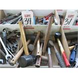 LOT - MISC RAWHIDE AND RUBBER MALLETS