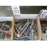 LOT - PLIERS, NEEDLE NOSE AND CHANNELOCKS