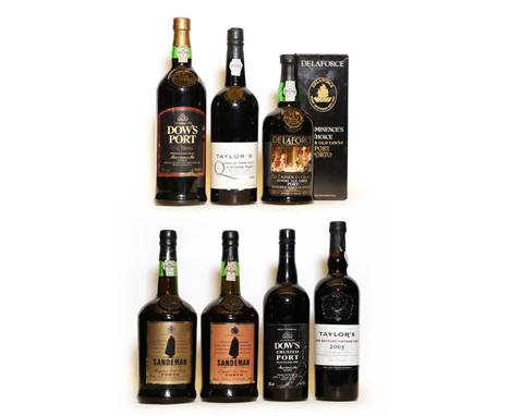 Assorted Port, to include: Taylors, Quinta de Terra Feita, Vintage Port, 1986, one bottle; Dows, Crusted Port, 1991, one bott