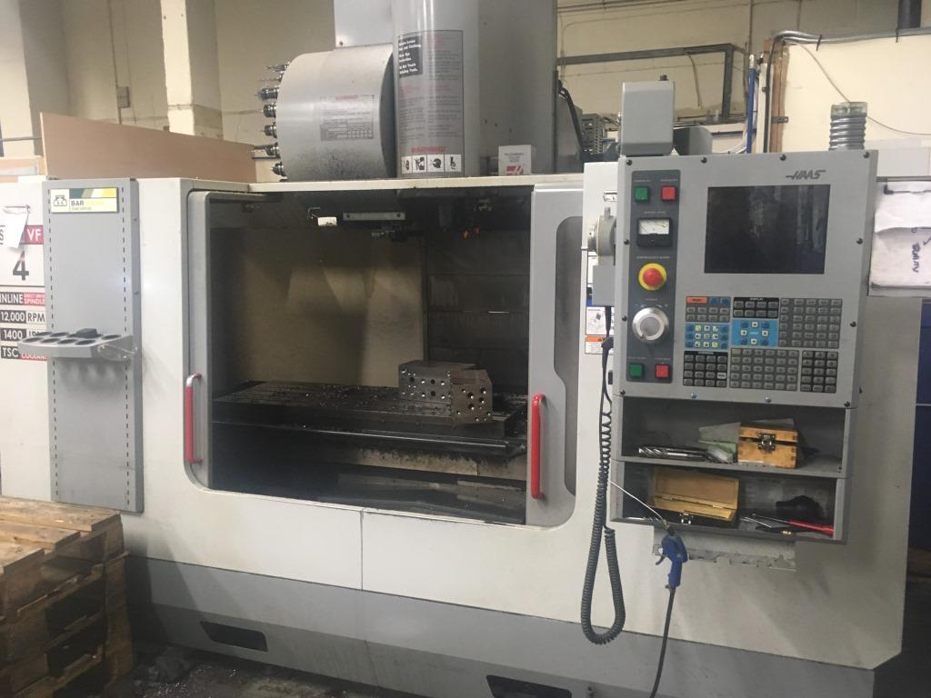 Haas model VF4SS HE, CNC vertical machining centre, serial ...