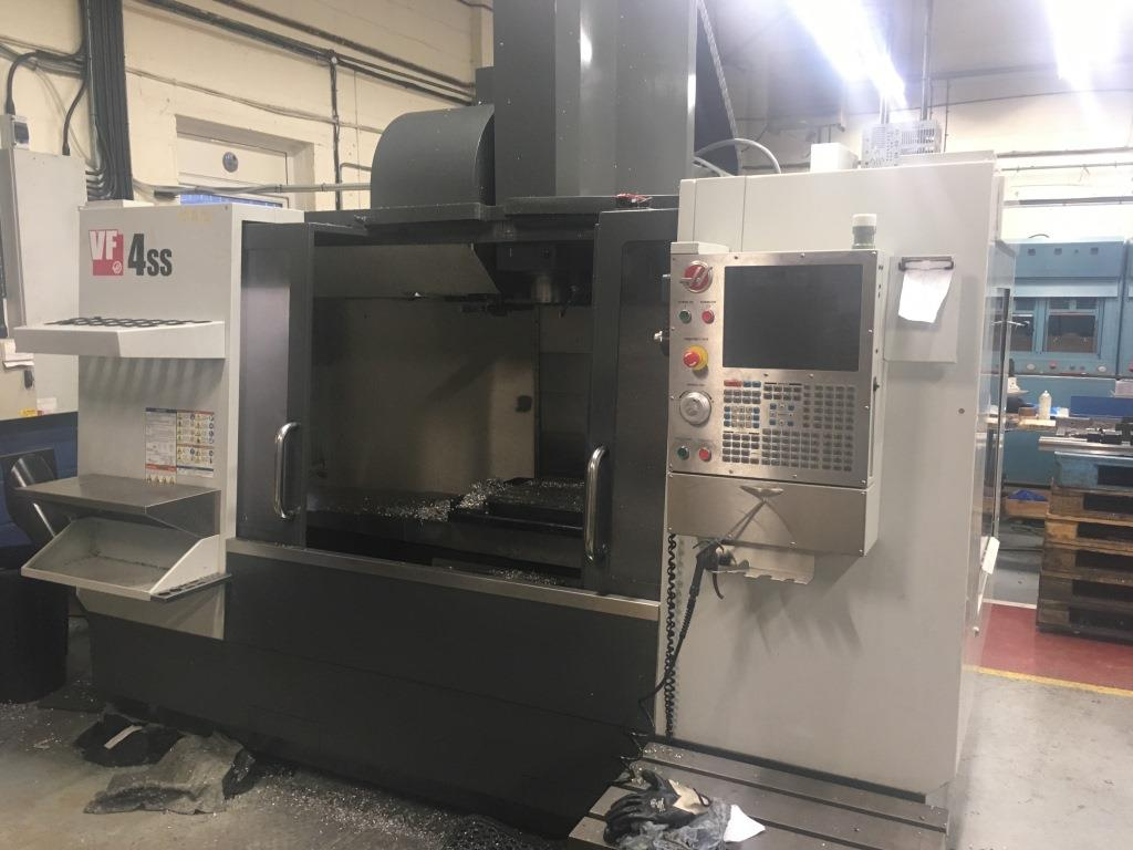 Haas model VF4SSCNC vertical machining centre, serial no ...