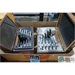 """(6 PIECES) MITUTOYO AND STARRETT 1"""" - 6"""" MICROMETER SETS"""