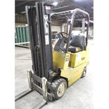 """YALE 3000#  PROPANE FORKLIFT- 172"""" Max. Height, 42"""" Fork Length, Solid Tires"""
