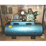 15HP 3-STAGE HORIZONTAL TANK MOUNTED AIR COMPRESSOR-w/ 120 Gallon Tank, Starter Box, 208-220/440/3/