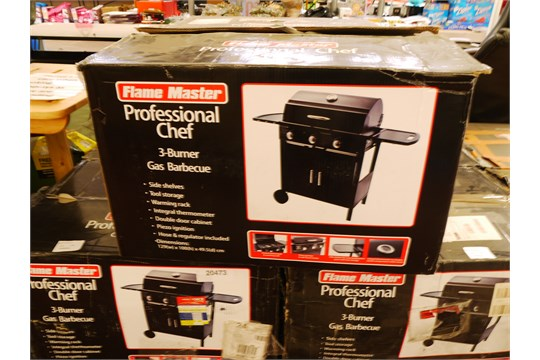 Flame Master Bbq Grill.Flame Master Professional Chef 3 Burner Gas Bbq Boxed Rrp