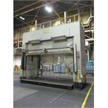 "VERSON D2-100-200-100-DS HYDRAULIC SPOTTING PRESS S/N 21991, 100 TON CAPACITY, 200"" X 100"" BED,"