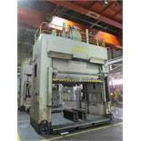 "VERSON D2-50-132-84-DS HYDRAULIC SPOTTING PRESS S/N 22062, 50 TON CAPACITY, 132"" X 84"" BED, 48"""