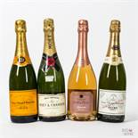 Various Vintages Mixed Non Vintage Champagne, 4 bottles of 75cl.