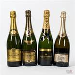 Various Vintages Mixed Vintage Champagne, 4 bottles of 75cl.